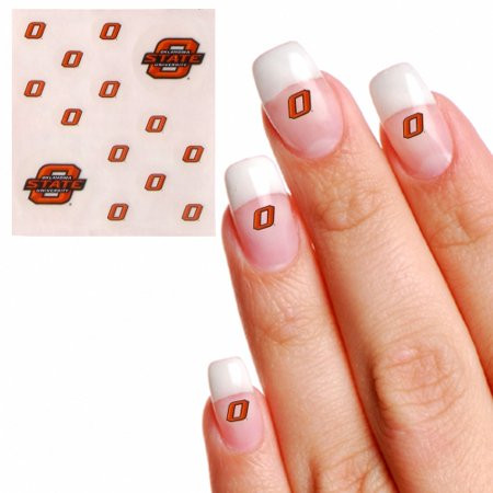 Oklahoma State Cowboys Waterless Fingernail & Face Tattoos - No Size