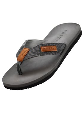 Norty Mens Soft EVA Flip Flop Thong Sandal Shoe for Casual Beach Pool Everyday, 41411 Grey / 8D(M)US