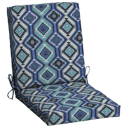 """Mainstays Blue Southwest Outdoor 43""""L x 20""""W 1 Piece Dining Chair Cushion"""