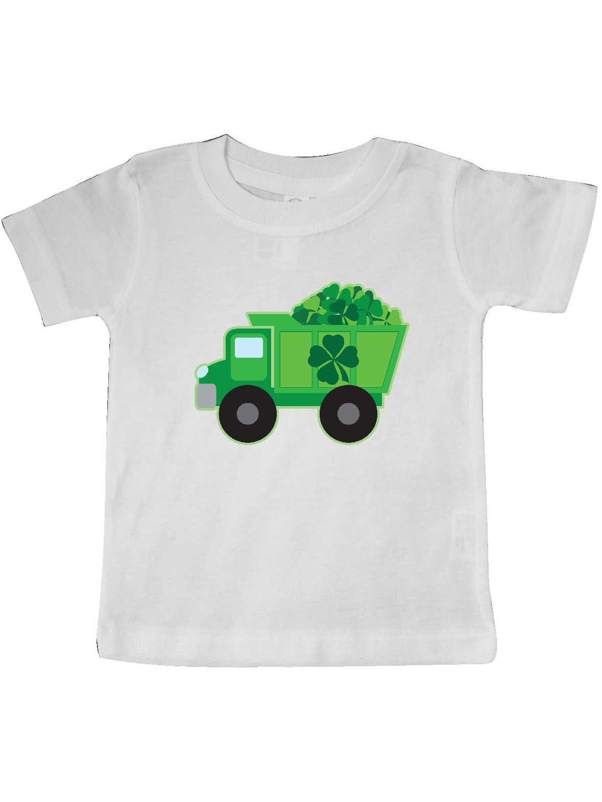 St Patricks Day Irish Clover Dump Truck Childs Baby T-Shirt