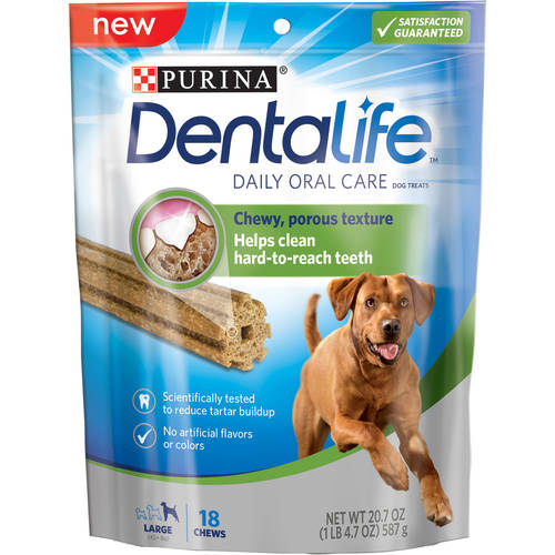Purina DentaLife Daily Oral Care Large Dog Treats 18 ct Pouch