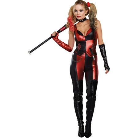 Female Harlequin Costume (Harlequin Blaster Women's Adult Halloween)