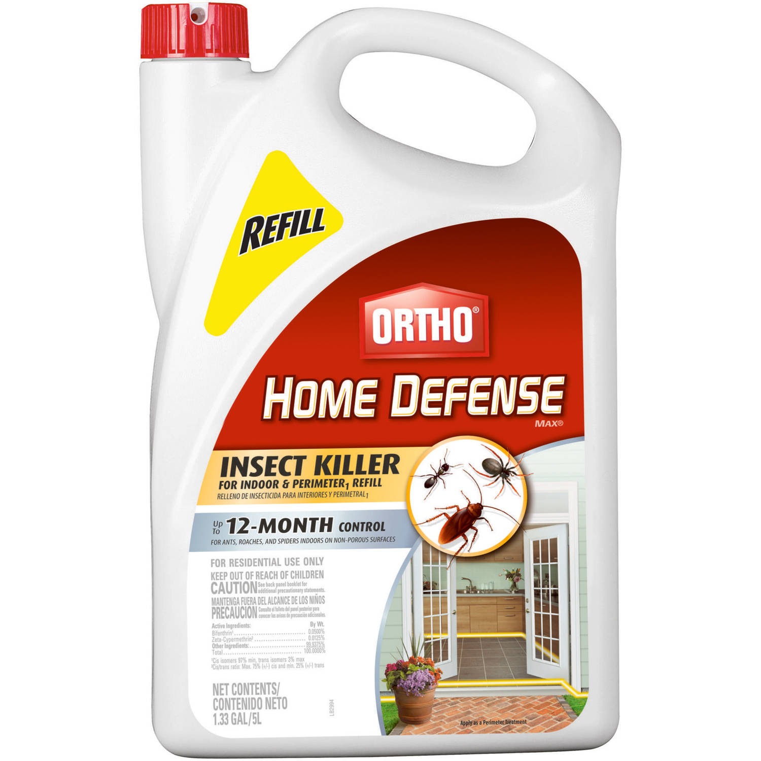 Ortho Home Defense MAX Insect Killer for Indoor & Perimeter Ready-to-Use Refill, 1.33 gal