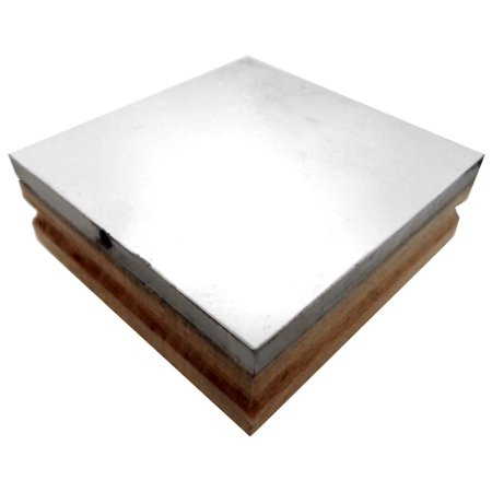 Steel And Wood Bench Block 3 X 3 X 1 For Jeweler S And