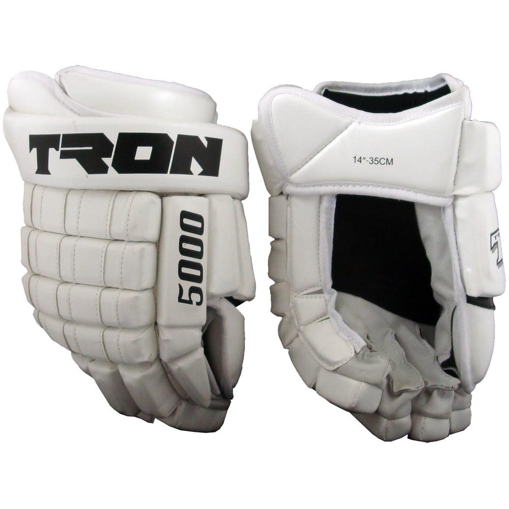 Tron 5000 Hockey Gloves (White)