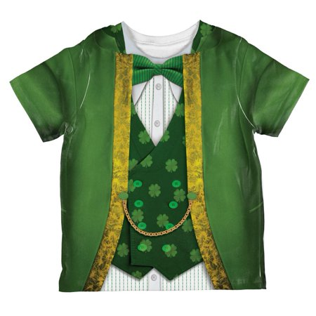 St Patrick's Day Leprechaun Costume All Over Toddler T Shirt - St Patricks Day Costume