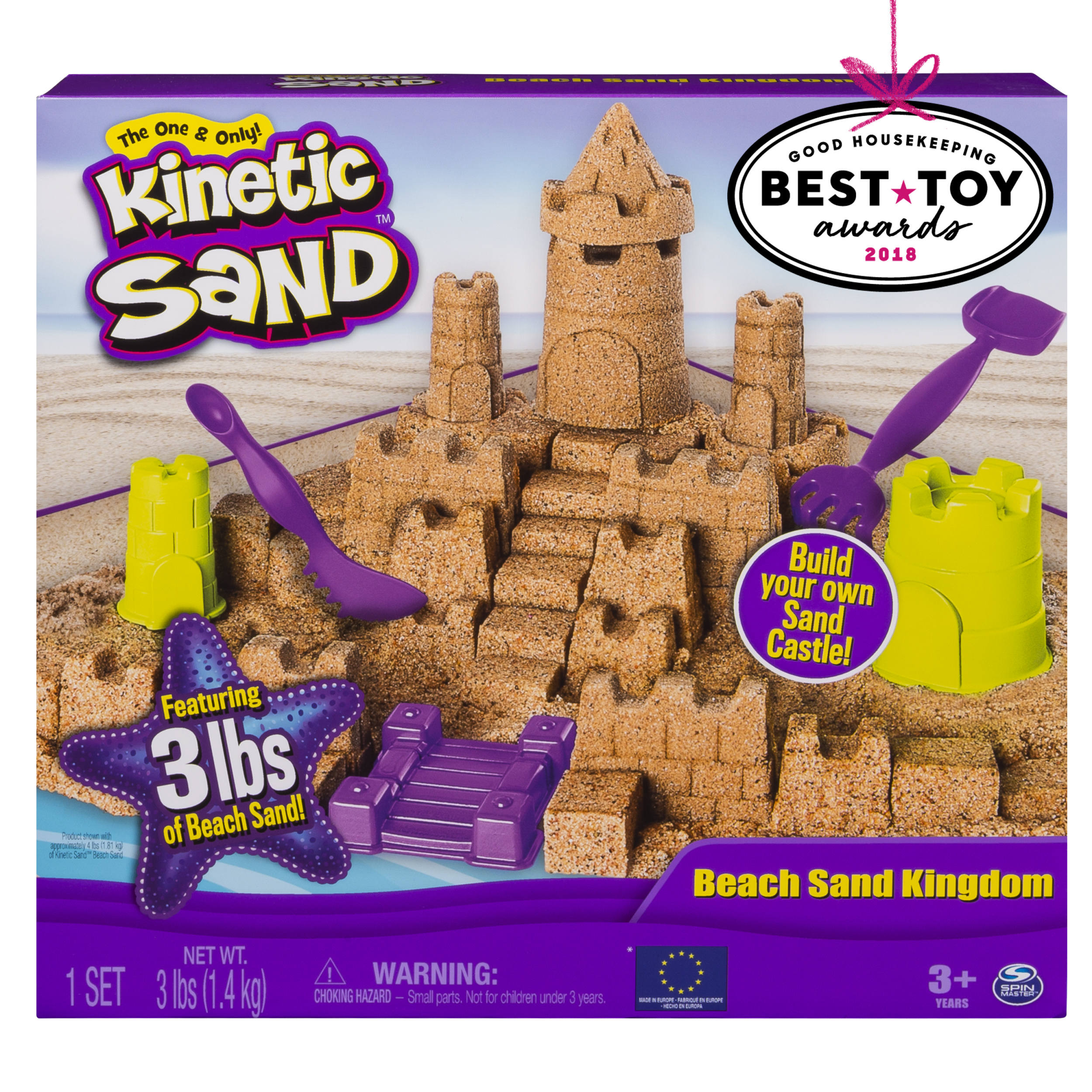 Kinetic Sand Kinetic Sand - Beach Sand Kingdom Playset with 3lbs of Beach Sand