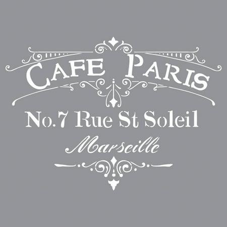 Americana Decor Stencil Cafe Paris 12 X Inches