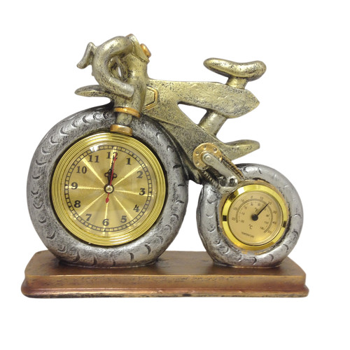 Bicycle Clock with Thermometer by Generic
