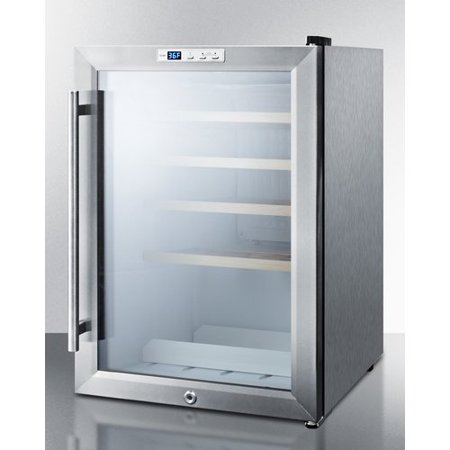 Summit Appliance 22 Bottle Commercial Single Zone Convertible Wine Cooler
