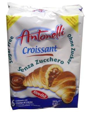 Croissants Sugar Free, Cocoa (Antonelli), 6pc (8.85oz) by