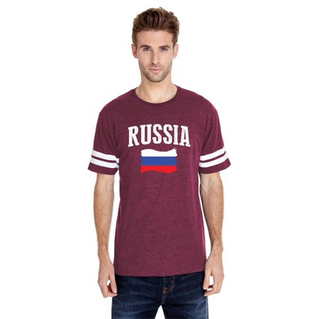 Russia Men Football Fine Jersey Tee
