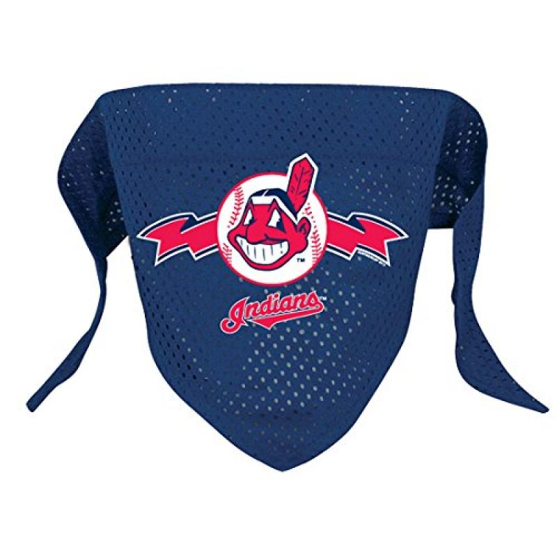 Hunter MFG Cleveland Indians Mesh Dog Bandana, Small