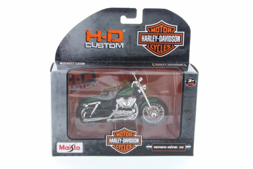 2012 Harley Davidson XL 1200V Seventy-Two, Metallic Green Maisto 31360-32 1 18 Scale... by