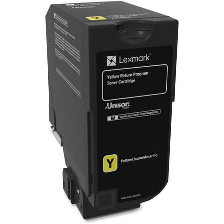 Lexmark CS720, CS725, CX725 Yellow Return Program Toner Cartridge