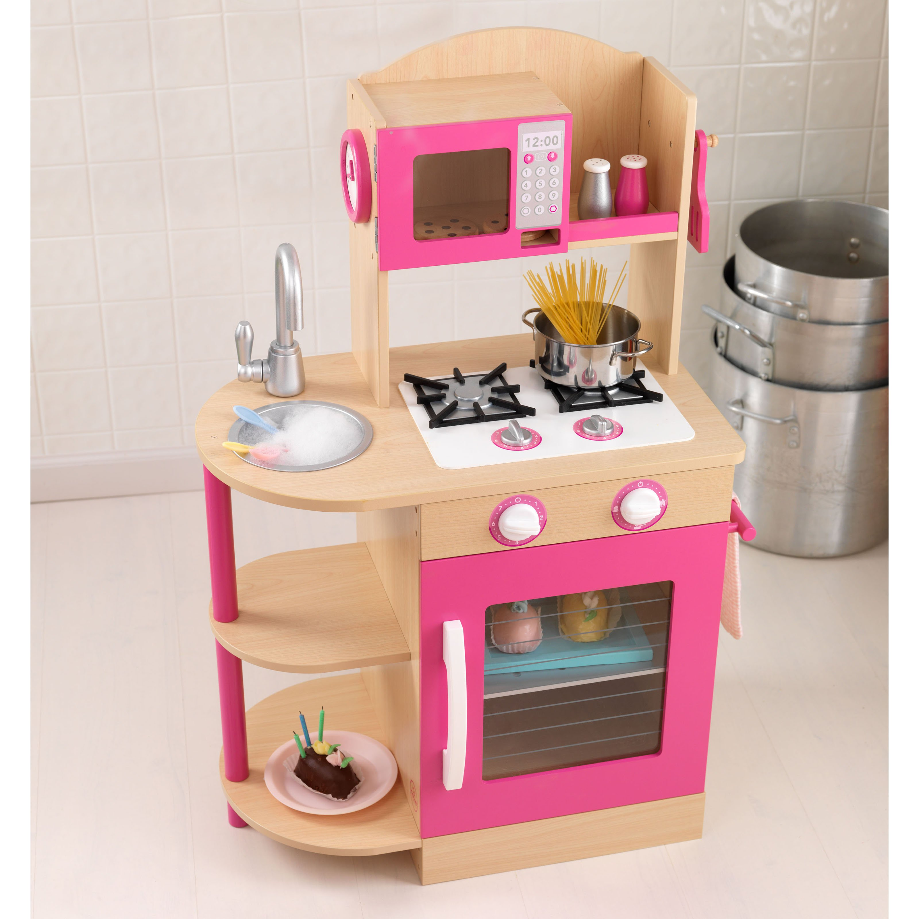 kidkraft wooden play kitchen - interior design