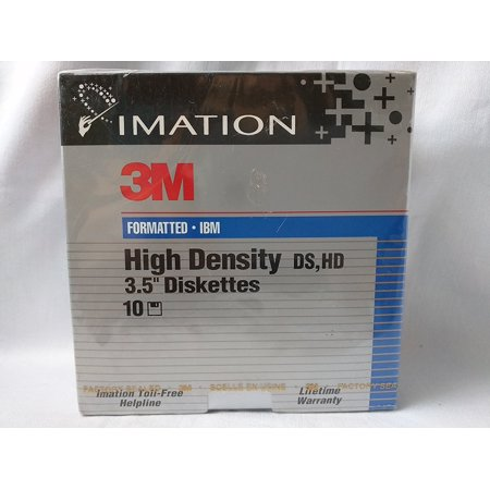 Imation 3M Formatted High Density 3.5' Diskettes 1.44