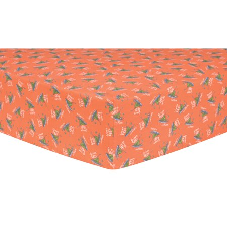 Trend Lab Dr. Seuss Green Eggs and Ham Fitted Crib Sheet