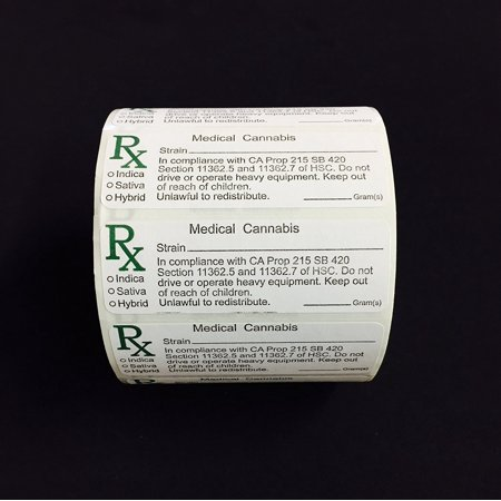 California Rx Medical Cannabis Compliant Strain Labels   1000 Labels  All Labels Are Produced With A Matte Finish For A Seamless Writing Surface By A
