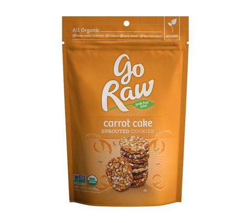 Go Raw 100% Organic Super Cookies Carrot Cake 3 oz - Vegan