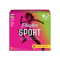 Playtex Sport, Plastic Tampons, Regular, Unscented, 36 Ct