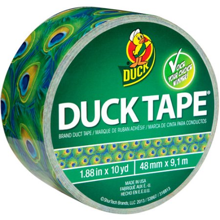 Printed Duck Tape Brand Duct Tape - Peacock, 1.88 in. x 10 yd.