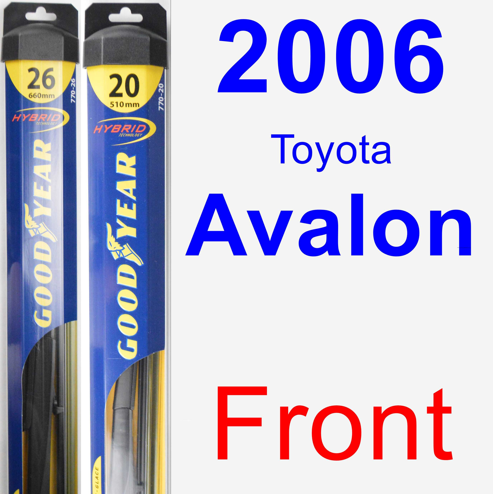 2006 Toyota Avalon Exterior: 2006 Toyota Avalon Wiper Blade Set/Kit (Front) (2 Blades