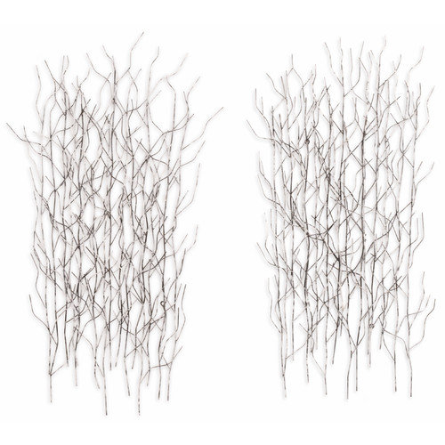 Fox Hill Trading 2 Piece Iron Werks Winter Thicket Wall D cor Set