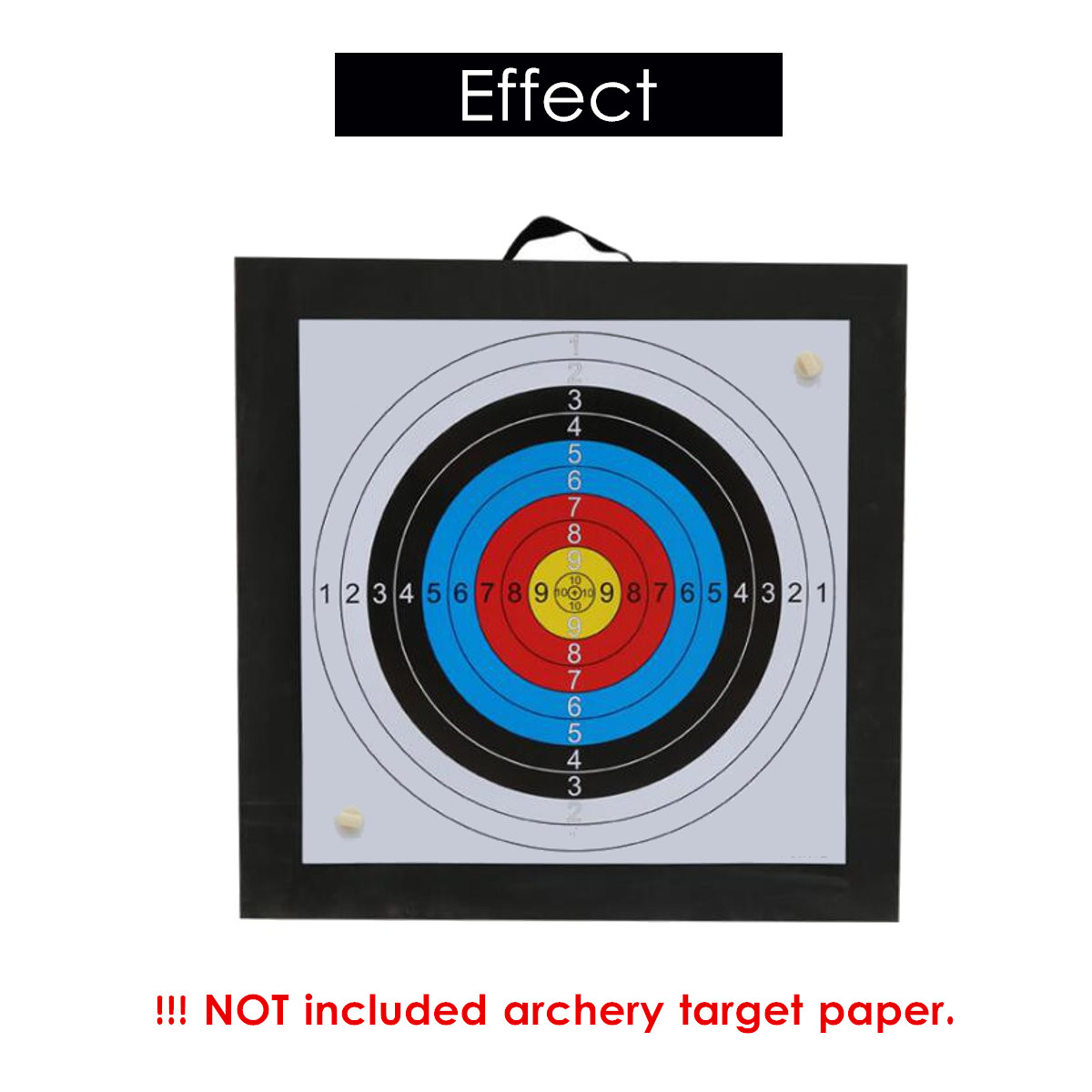 Foam Layered Target with Polyfusion Technology Eva Archery Target Shooting Eva Arrow Target Archery Self-Healing EVE Target 50 x 50 x 6 cm Outdoor Target Arrow and Bow Fittings