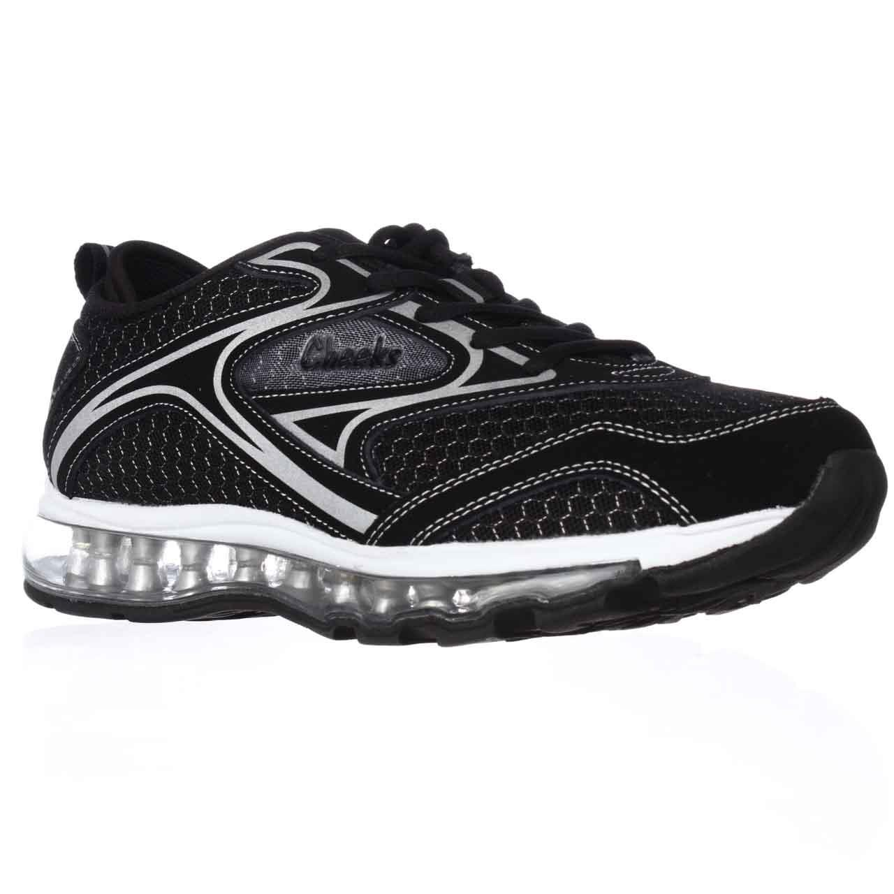 Womens Cheeks Air Trac Trainer Athletic Shoes - Black/Silver