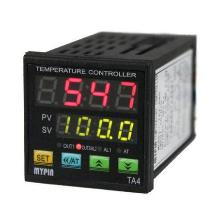 AGPtek Digital Dual Display PID Temperature Controller TA4-RNR (Alarm Output)