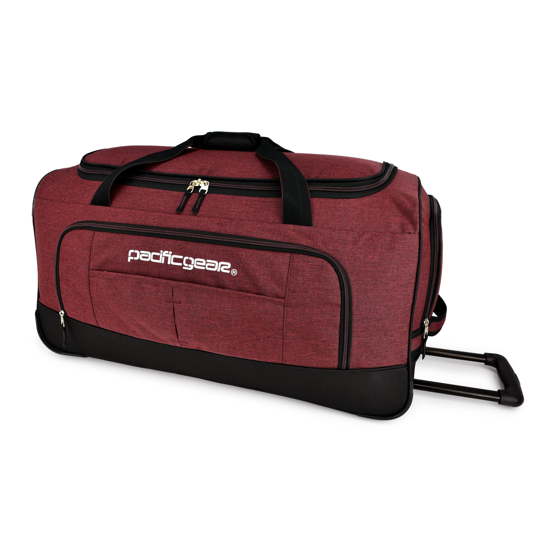 """Pacific Gear Keystone 30"""" Rolling Duffel Bag, Burgundy"""