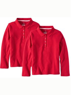 df2a6b259 Product Image Girls School Uniform Long Sleeve Interlock Polo