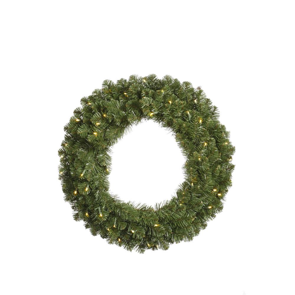 "36"" Pre-Lit Grand Teton Artificial Christmas Wreath ��� Clear Dura-Lit Lights"