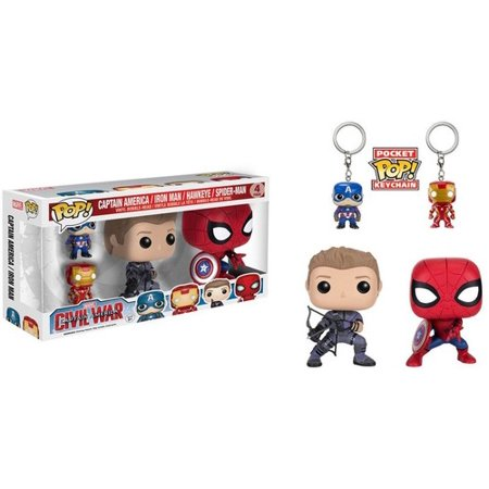 Funko Pop  Marvel  Cap America 3   4 Pack