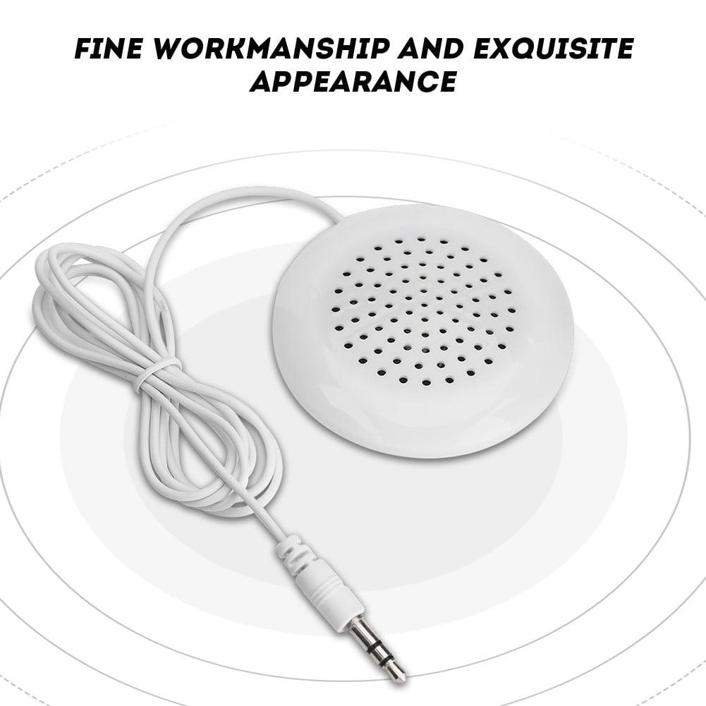 Mini White 3.5mm Mini Pillow Speaker Earpiece Headphones Earphone For Sleeping