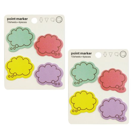 Flat Notes Set (Wrapables® Colorful Thinking Bubble Post-It Sticky Notes, Set of 2 )