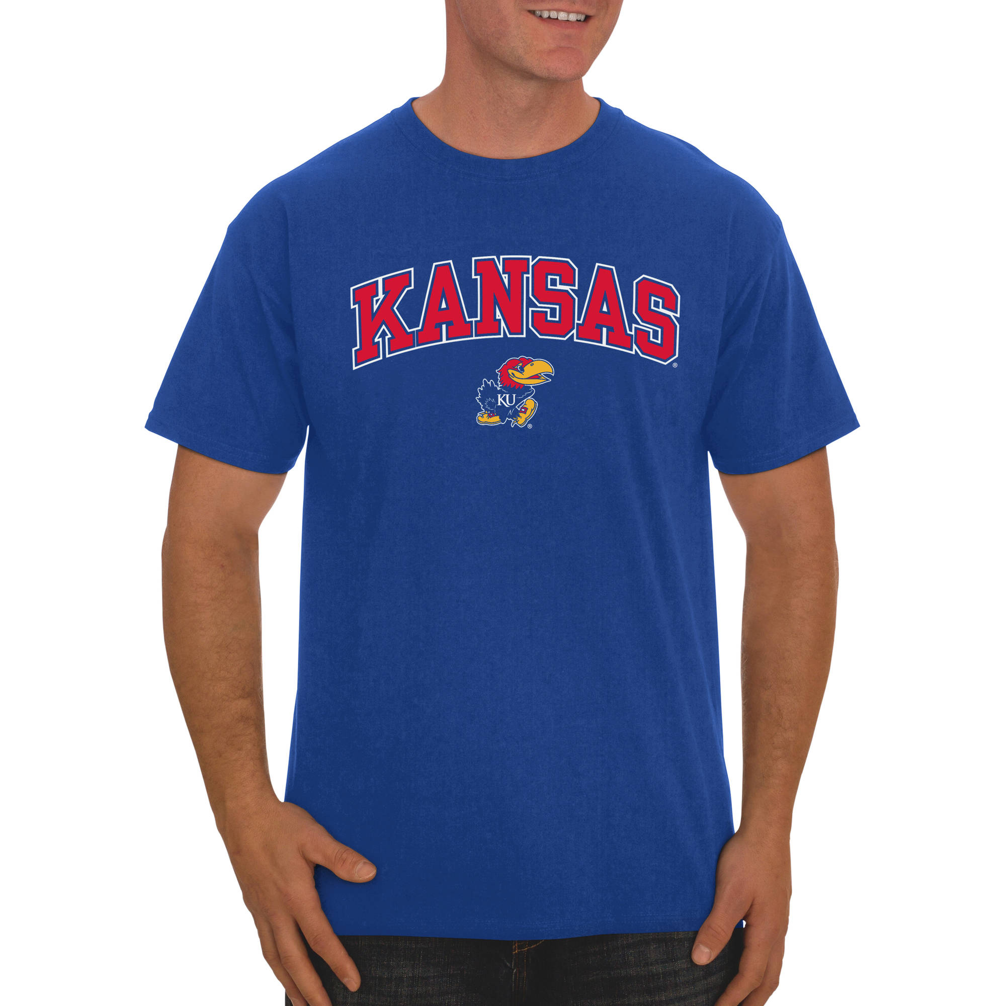Russell NCAA  Kansas Jayhawks, Big Men's Classic Cotton T-Shirt