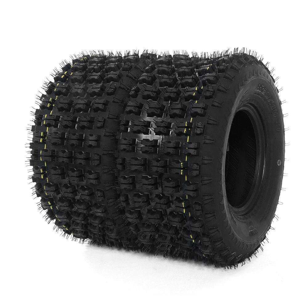Ktaxon Set of 2 ATV UTV Tires AT Rear 20x10-9  4PR P336 BIAS for Honda TRX250X