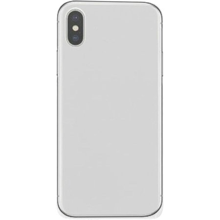 Ultra Singlet - For Apple iPhone X Rubberized Matte Ultra Slim Single One Piece Back Cover - White