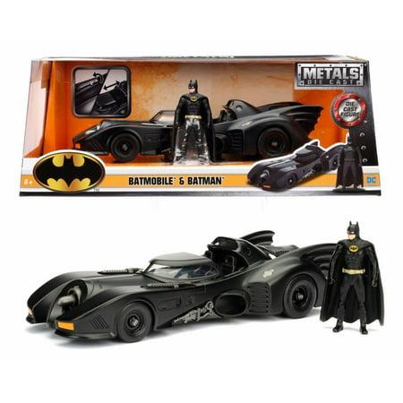 Batmobile Batman (JADA METALS - DC COMICS - 1989 BATMOBILE & BATMAN)