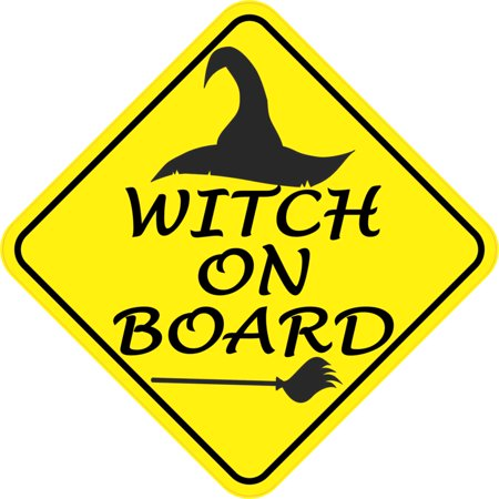 6in x 6in Witch On Board Magnet Vinyl Halloween Vehicle Magnetic](Halloween Refrigerator)