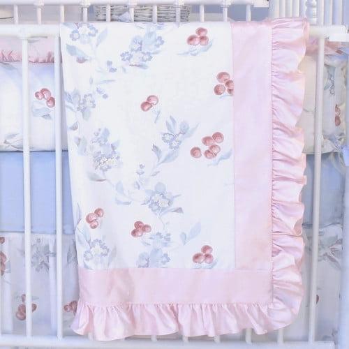 Blueberrie Kids Cherry Blossom Crib Quilt by Black Flag