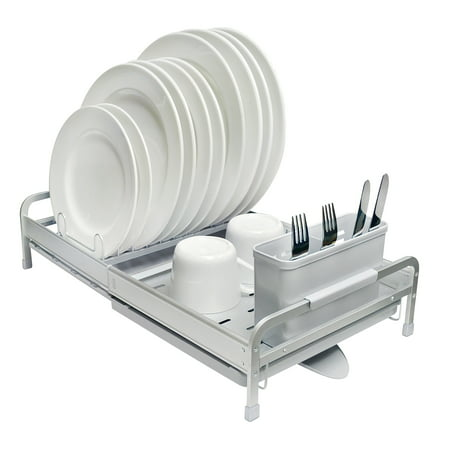 Deluxe 2 Piece Wall Rack - Real Home Deluxe Expandable Aluminum Dish Rack