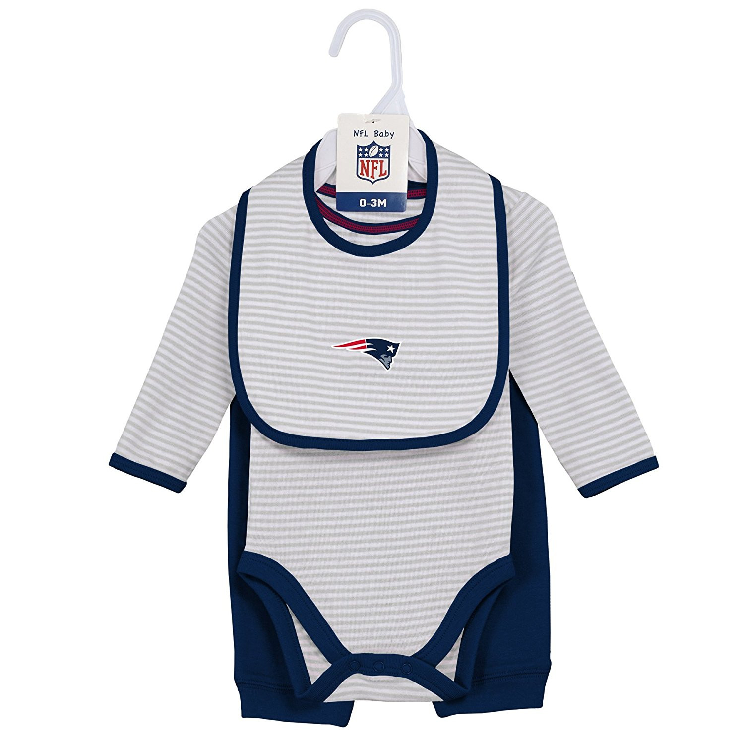 New England Patriots NFL Infant Interception Pant Set with Creeper & Bib by Outerstuff