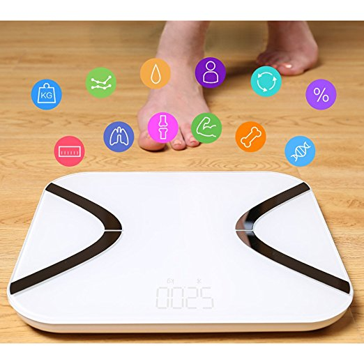 Erolldeep smart bluetooth body Fat Scale with bluetooth Digital Body Fat scale with bluetooth Analyzer Bathroom Scale Syncyour Weight Data with Phone APP