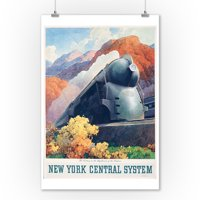 New York Central System - Century Highlands of the Hudson Vintage Poster (artist: Ragan)  c. 1938 (9x12 Art Print, Wall Decor Travel Poster)