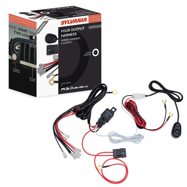 Sylvania 4 Output LED Light Bar and Pod Wiring Harness Kit, 1 Pack -  Walmart.com - Walmart.comWalmart