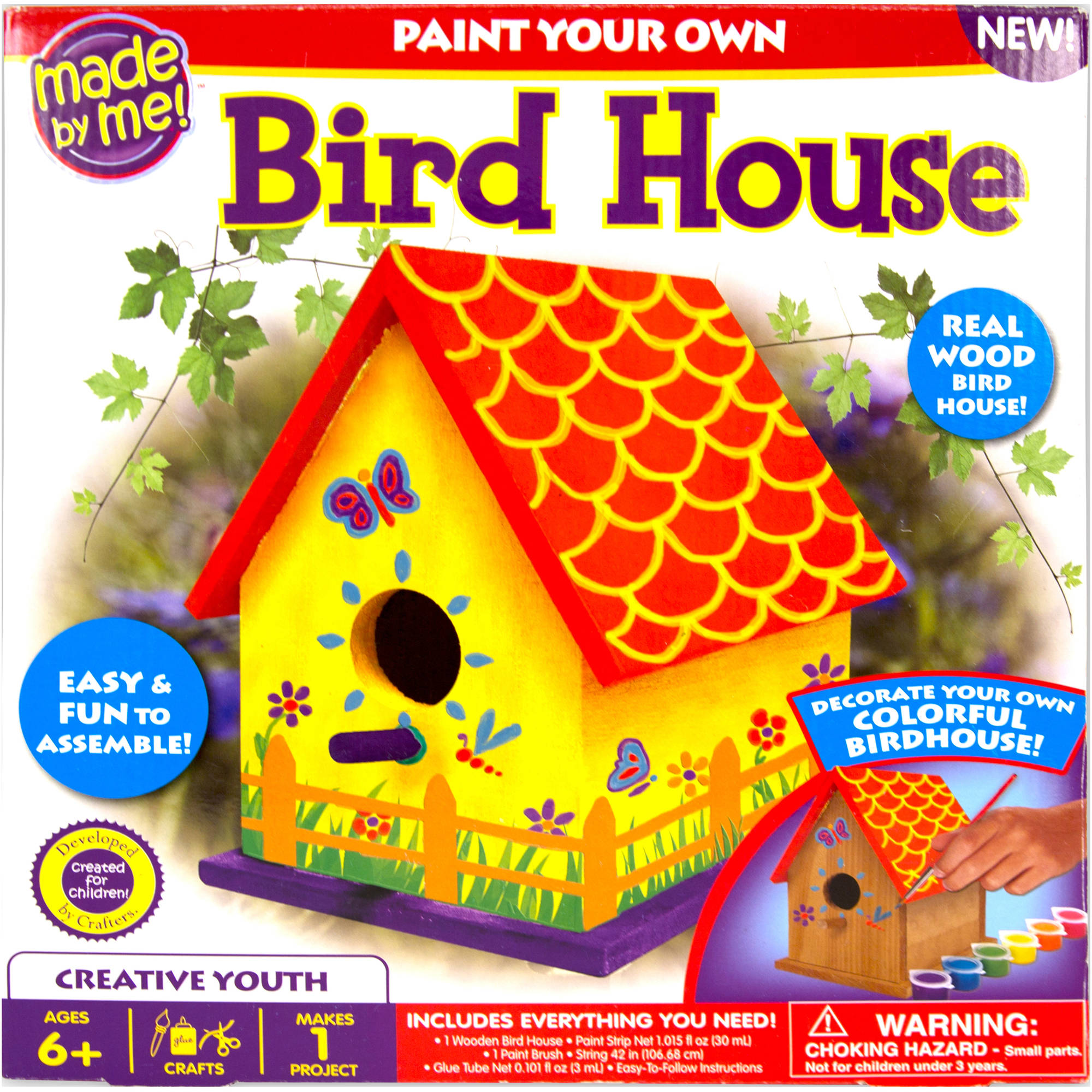 Made By Me Birdhouse Craft Kit by Horizon Group USA