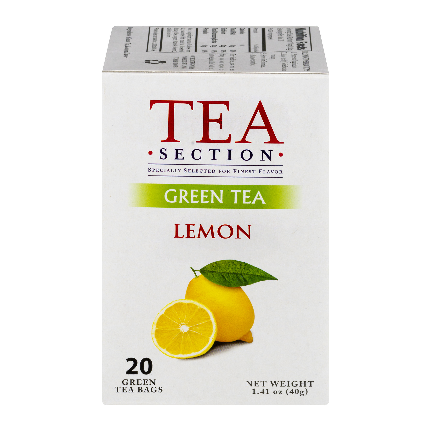 Tea Section Lemon Green Tea Bags, 20 count, 1.41 oz